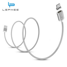 LEPHEE Type-C Magnetic Cable USB C Type USB-C Charger Data Sync Adapter Xiaomi Mi5s Huawei P10 Mate 9 Oneplus 3T 5 - Official Store store