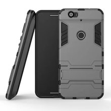 2 in1 Shockproof Cover case for Huawei Nexus 6P TPU+PC hard Hybrid Armor back Case for Nexus 6P protective shell stand holder