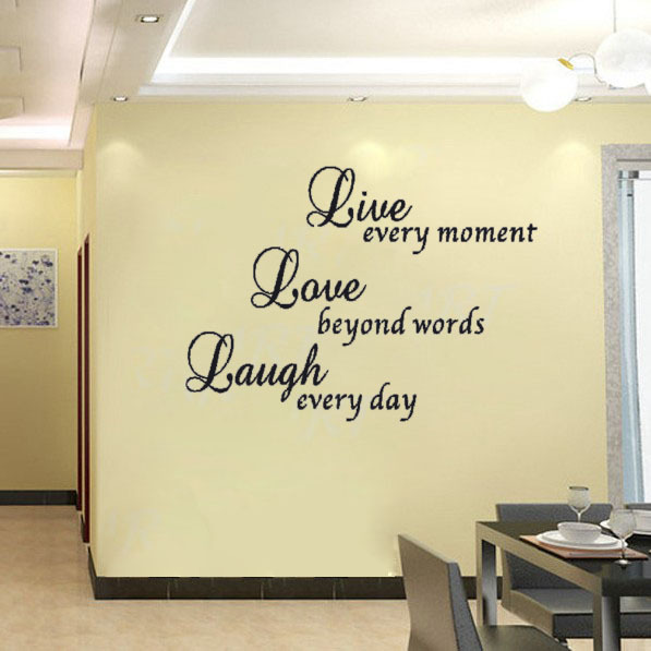 live laugh love art vinyl wall sticker decal decor quote With kitchen colors with white cabinets with live laugh love wall art stickers