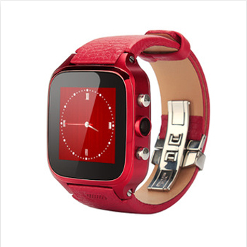 2015 Newest leather BAND Waterproof IP67 3MP Camera Wifi Sapphire Screen Smart Watch Phone With 3G Mobile Phone Androis System(China (Mainland))