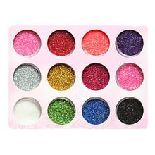 2pcs Plastic Twinkle Nail Art Decorative Powder (Random Color)(China (Mainland))