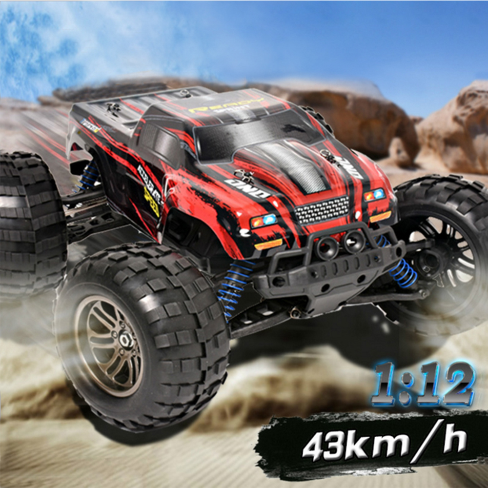 RC Car High Speed 43 Km/h Fast Race Cars1:12 Scale RC Racing ELECTRIC POWER 2.4G 4WD Remote control Off Road Car All Terrain(China (Mainland))