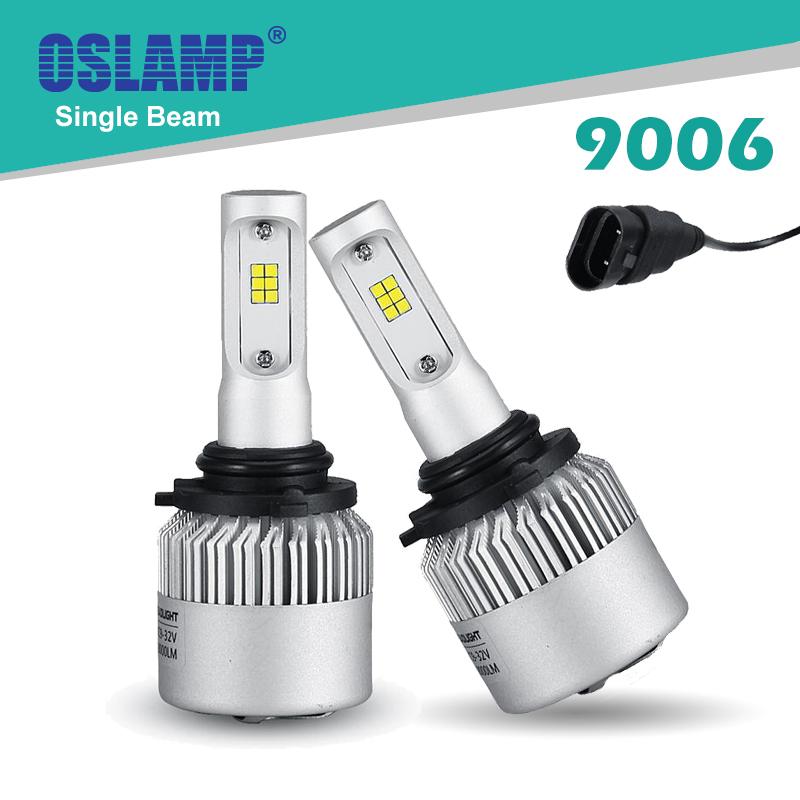 Oslamp Bright For LUMILEDS Chips 9006(HB4) Single Beam Car LED Headlight 72W/pair Led Auto Headlight SUV Head Bulbs 6500K 2pcs(China (Mainland))