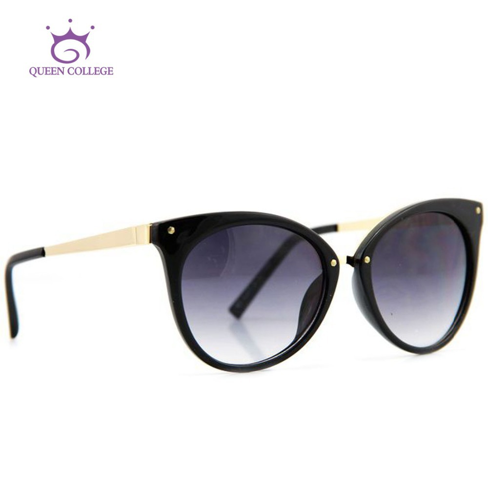 Queen College Brand Design Cat Eye Sunglasses Women Top Quality Sun Glasses Eyeglasses 6 colors CE UV400 AE0085(China (Mainland))