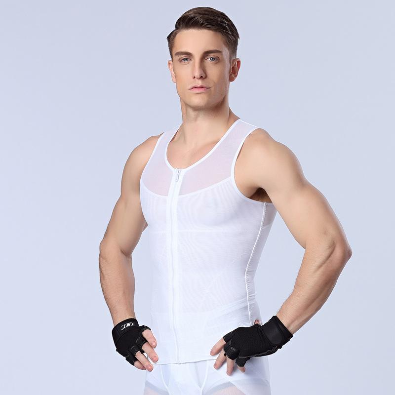 NEW ARRIVE men slim body font b shaper b font waist abdomen underwear less male vest