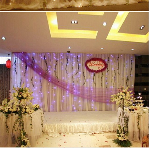 2 * 2.5 Meters water lights led waterfall light background decorative LED lights Christmas lighting the backlight wedding props(China (Mainland))