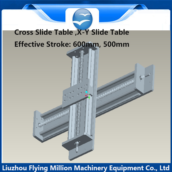 Linear Slide Stage optical axis sliding table module X-Y cross slide table effective stroke 500/600mm(China (Mainland))