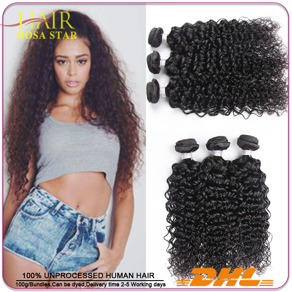 6A Brazilian Kinky Curly Virgin Hair 3pcs Lot Rosa Hair Company Brazilian Virgin Hair Curly Weaves Curly Virgin Brazilian Hair