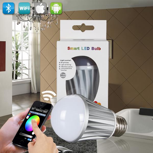 timer light bulb zigbee bluetooth wifi lampade led e27 7w economic led lamps(China (Mainland))