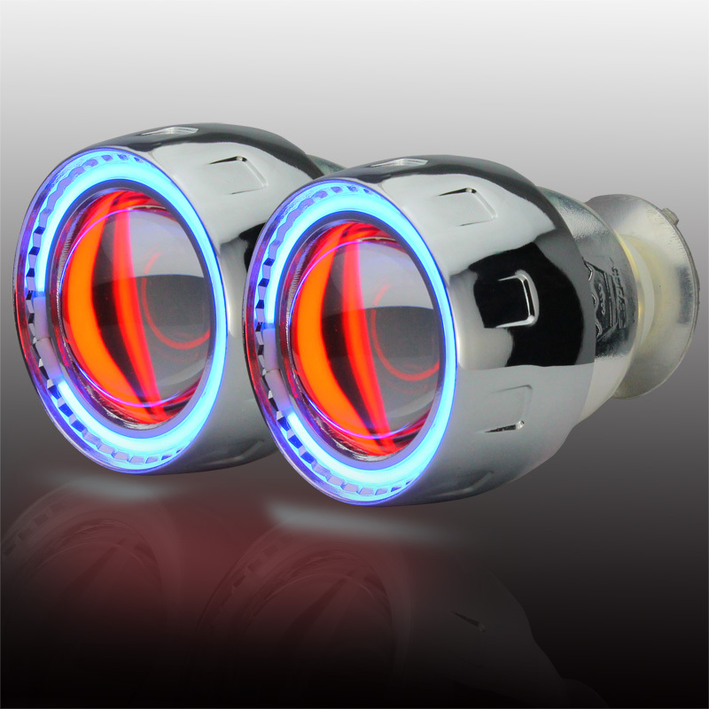 Wholesale price 2.5 inch Bi-Xenon HID Projector Lens angel eyes devil eyes universal for headlight parking H1/H4/H7/H3/9005/9006