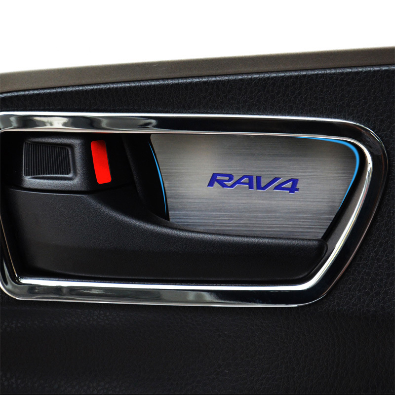2 colors Stainless steel interior door handle cover trim for Toyota RAV4 2014 2015(China (Mainland))