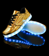 Women shoes led shoes for adults zapatos mujer led shoes woman 2015 hot fashion breathable led luminous shoes