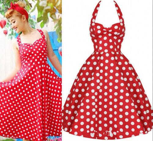 Compare Prices on Vintage Polka Dot Dress Retro- Online Shopping ...