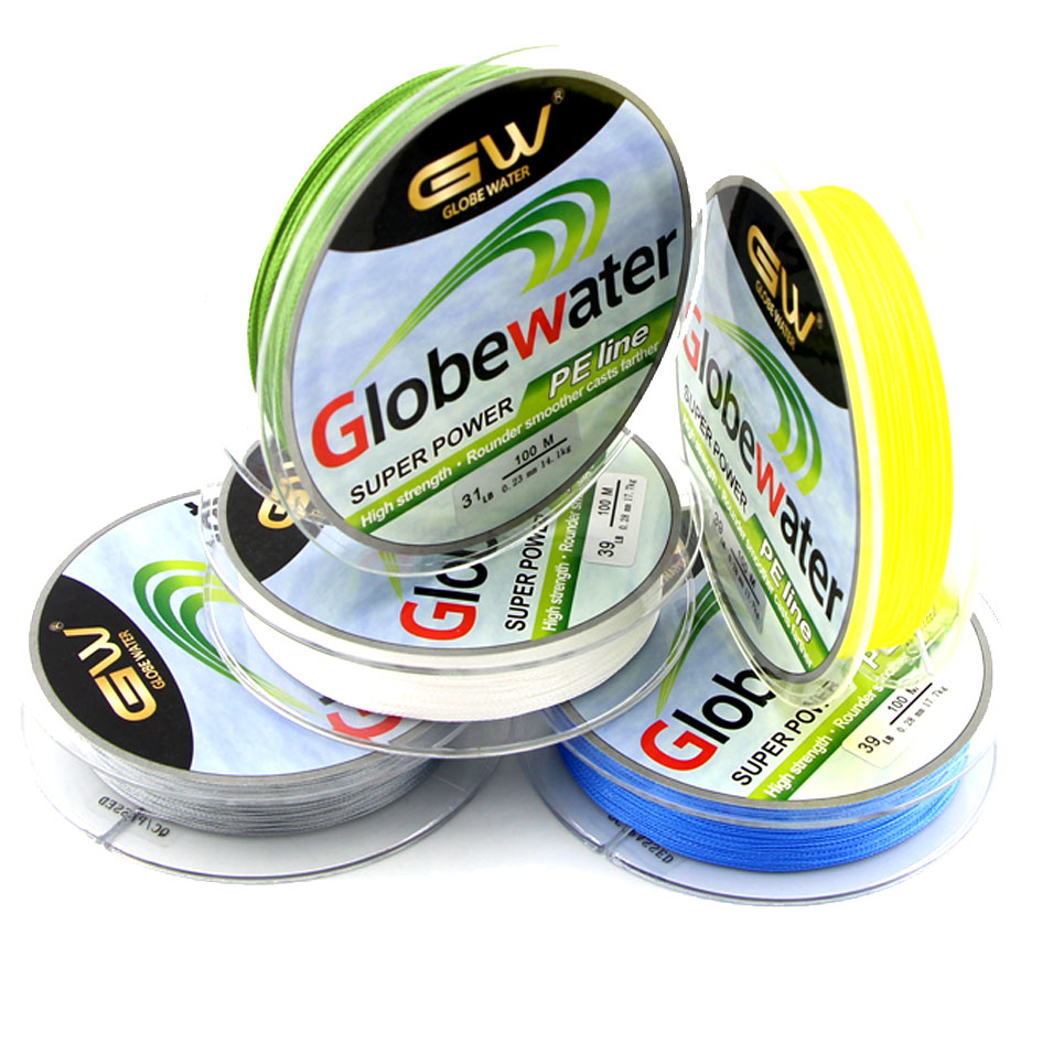 New 4 stands 100m 10-80LB brand fishing lines Super Strong Japanese Multifilament 100% PE Braided Fishing Line(China (Mainland))