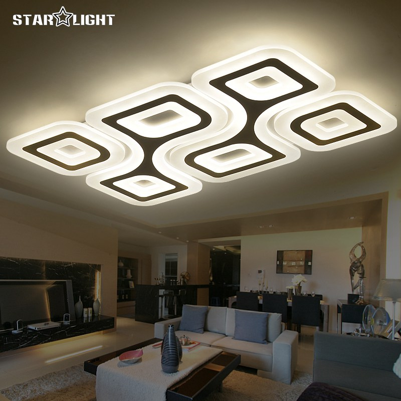 Modern led ceiling light living room lights acrylic for Modern living room ceiling lights