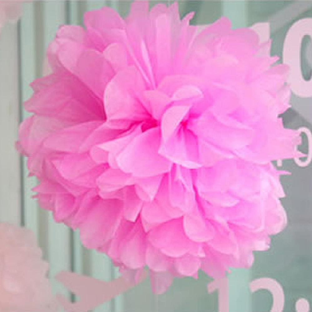 2015 Beauty Tissue Paper Pom-Poms 250mm Flower Wedding Party Home Outdoor Decor Wholesale high quality(China (Mainland))