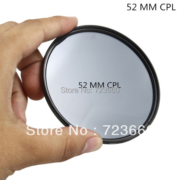 52mm CPL Circular Polarizer Camera / Camcorder Lens Filter For Canon Nikon Sony Camera All Other DSLR Camera(China (Mainland))
