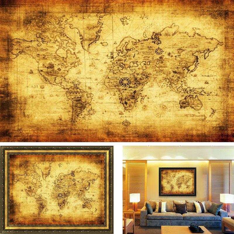 Nautical World Map Wallpaper Popular Nautical Map-buy Cheap