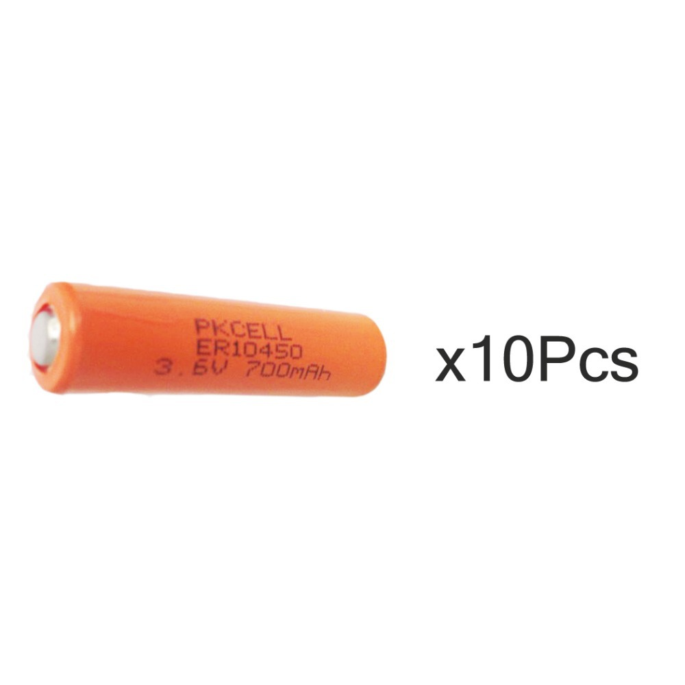 7 Days Delivery 10Pcs/PKCELL 3.6V AAA Lithium Battery ER10450 750Mah Li-SOCl2 Battery(China (Mainland))