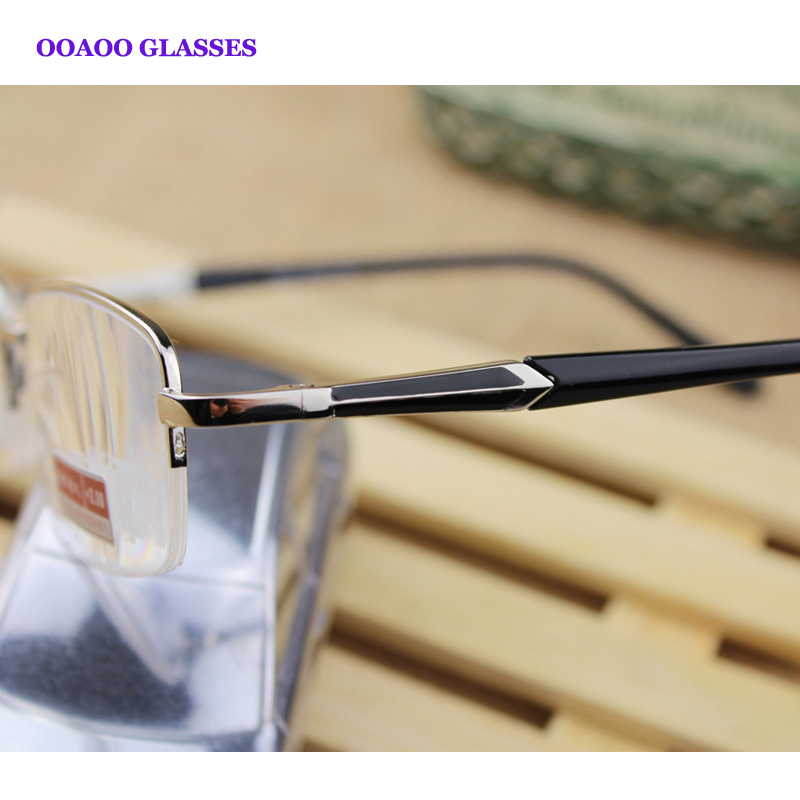 Green coated lenses protect the eyes anti-fatigue high-grade resin lenses metal half frame reading glasses upscale fashion 114(China (Mainland))