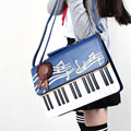 Piano Key Note Single Shoulder bag Lolita Kawaii Inclined shoulder bag preppy style Women Girls Lady
