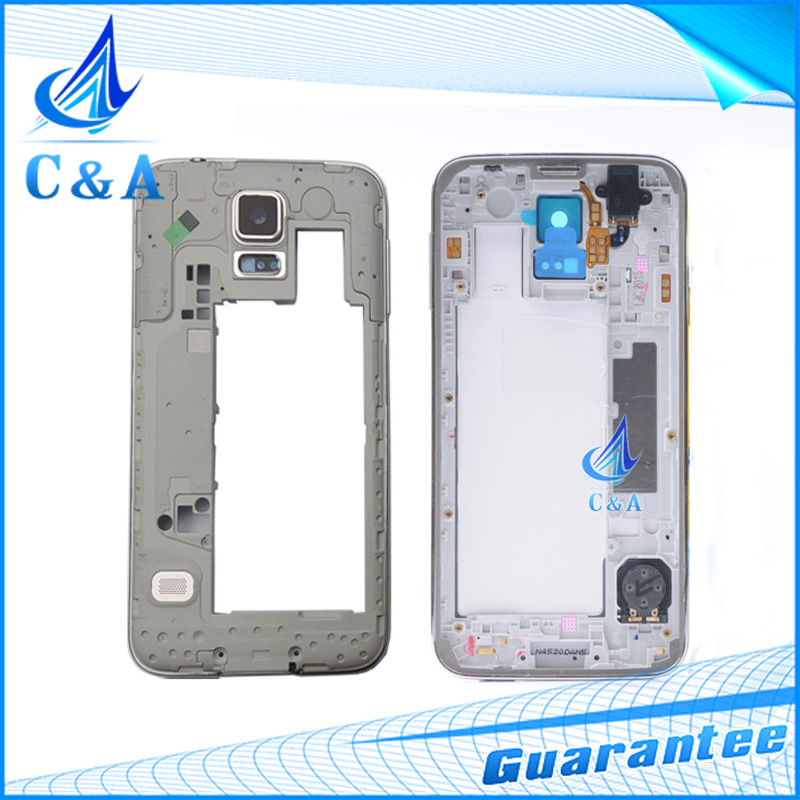 Replacement repair parts housing cover case for Samsung Galaxy S5 mini G800 middle frame 1 piece free shipping black white(China (Mainland))