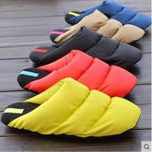 2015 New Men Women Winter Shoes Warm Down Indoor Slippers Couple Home Slippers Pantufa Cotton-Padded Pantufas(China (Mainland))
