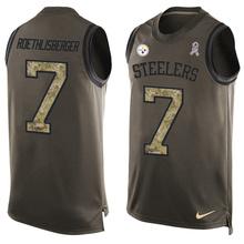 Pittsburgh Steelers Ben Roethlisberger,artie burns,Troy Polamalu Bell Antonio Brown Franco Harris Jerome Bettis Limited Tank Top(China (Mainland))
