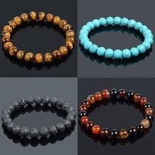 19 styel elastic Natural Stone Bracelet & Bangle with white howlite Malachite Lava Turquoise Buddha Beads Bracelets Tiger Eye
