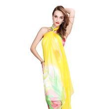desigual muslim hijab scarf designer brand yellow tulip silk feeling chiffon shawl spring apparel & accessories(China (Mainland))