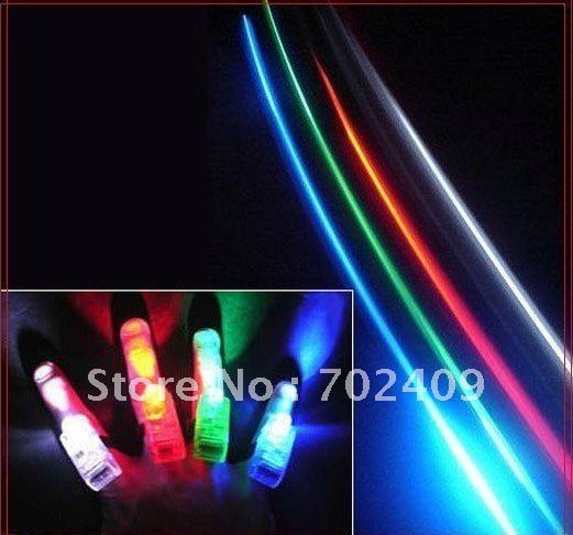 400pcs/lot(4pcs/1pack)Free Shipping Party Light LED Laser Finger Light with retail blister package Christmas Gift