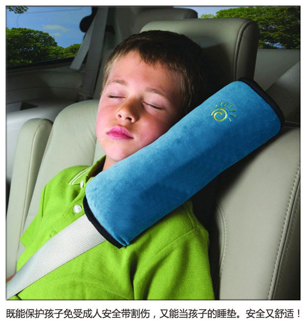 5 Colors Baby Auto Pillow Car Safety Belt Protect Shoulder Pad adjust Vehicle Seat Belt Cushion for Kids Children high quality(China (Mainland))