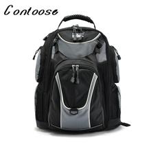 Buy 2017 Brand (20+31)*42CM Black Canvas Backpack Men School Bags Teenagers Bag School Printing Backpack for $27.99 in AliExpress store