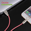 Ockie Fish wire Braided CABLE 2 4A 1m fast chargering data cable for iphone for android