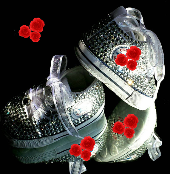 4536 baby shoes Christening Birthday soft bottom Hand Made bowknot Rhinestone bling Sports Canvas Baby Girl Shoes 44555