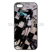 New Black Rock Shooter Customizd design hard plastic mobile cell phone bags case cover for iphone 4 4s 5 5s 5c 6 plus(China (Mainland))