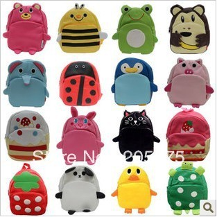 New Arrival 15 Style Baby Toddler Kid Cartoon Animal Backpack Child Schoolbag