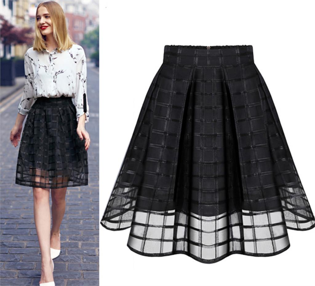 Lastest 2016 Fashion Women Long Skirt High Waist Pleated Maxi Skirts Womens
