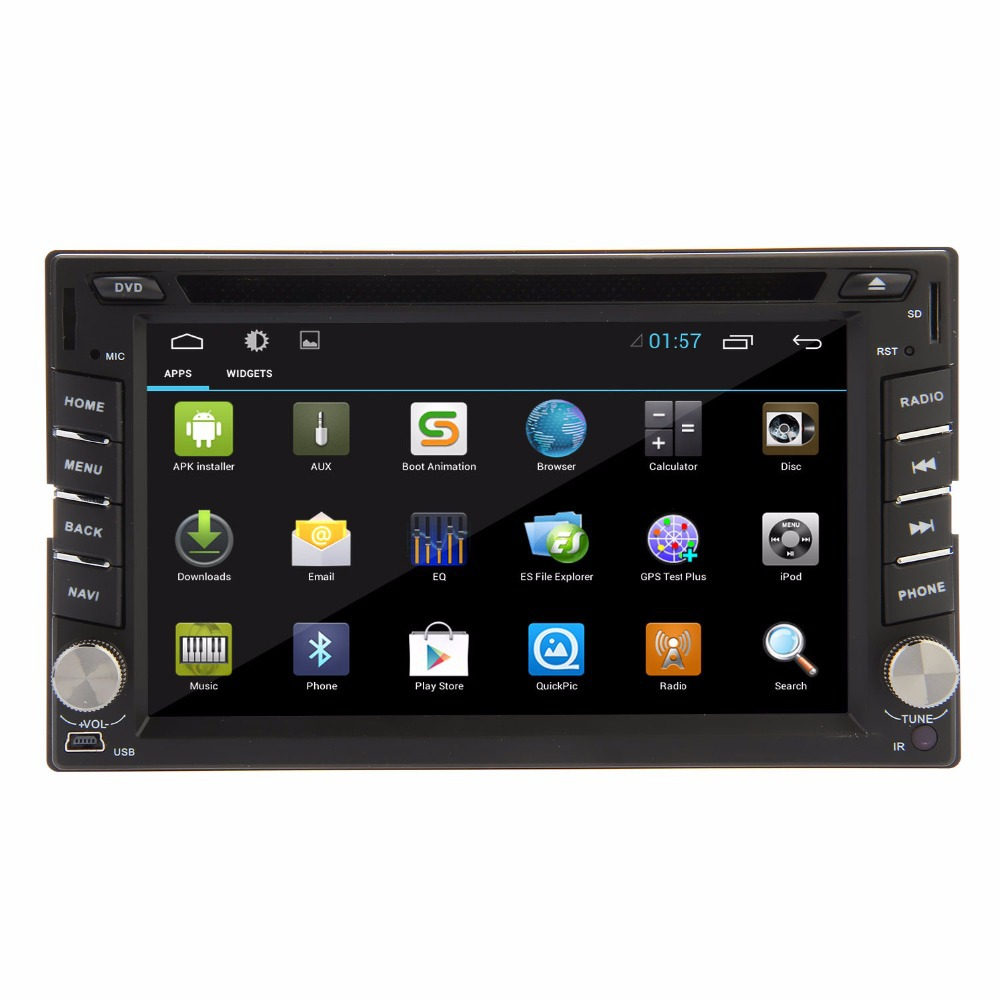 Free shipping! 2 din 4 Core Pure Android 4.4.2 Car DVD player GPS+Wifi+Bluetooth+Radio+1.6GHz CPU+Capacitive Screen+stereo(China (Mainland))