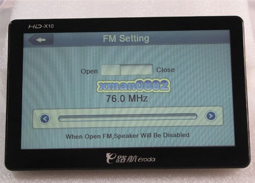 7inch 8GB car gps touch screen mp3 mp4