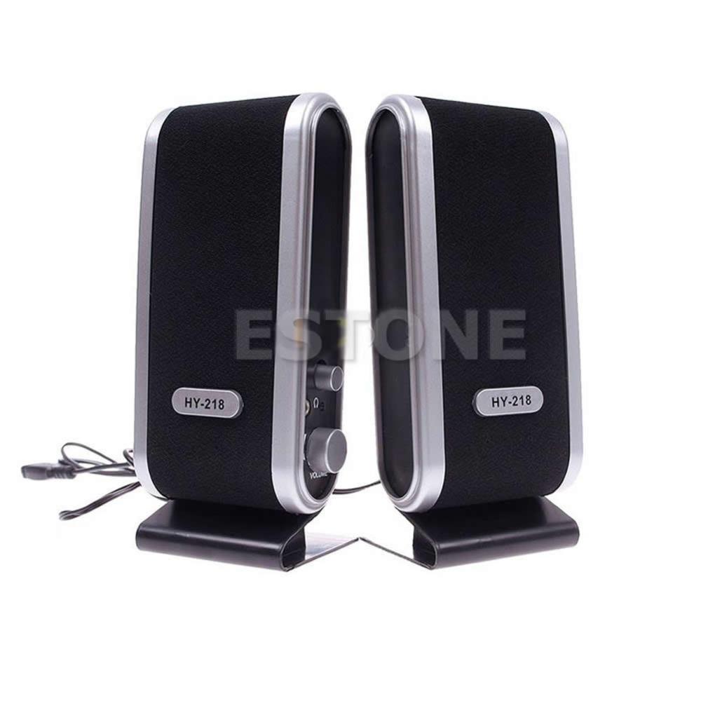 Гаджет  Hot Sale 2x Mini USB Portable Speaker For Laptop PC Computer Free Shipping None Бытовая электроника