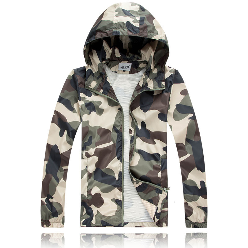 Outdoor Camping Hiking Quick Drying Jacket Camouflage Ultra-Thin Skin UV Men Summer Fishing Coat(China (Mainland))