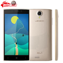 "Original Leagoo Alfa 5 5.0"" HD IPS Mobile Phone Android 5.1 SC7731 Quad Core 1GB RAM 8GB ROM 8.0MP Camera Dual SIM WCDMA(China (Mainland))"