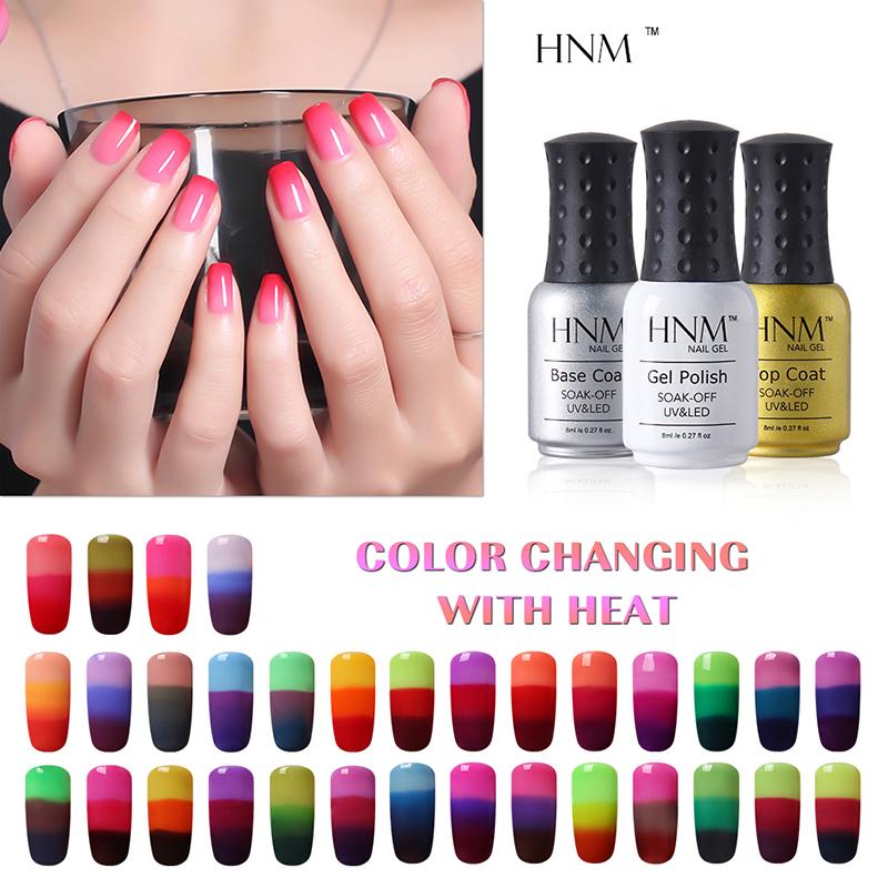 Color Changing Gel Nail Polish: HNM Temperature 3 Color Changing Gel Nail Polish 8ml Mood
