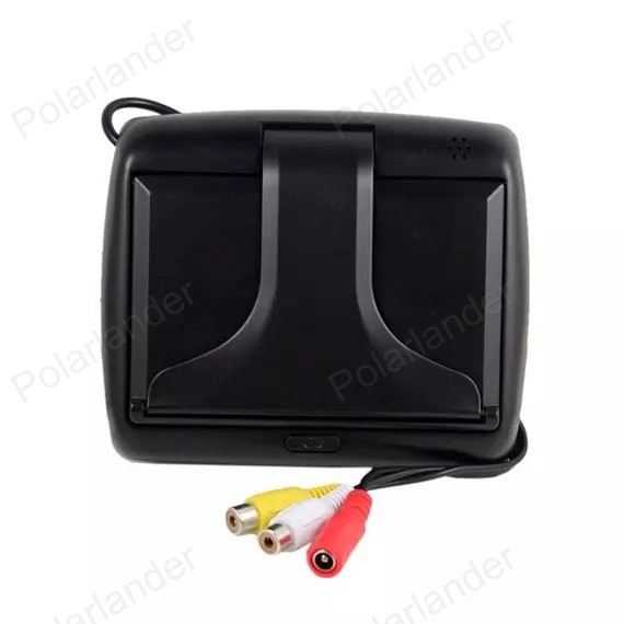 4.3 inch TFT LCD Car Monitor with 2 VA input auto switching video  +  reverse parking camera