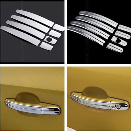 8pcs kit ABS Chrome Trim Door Handle Covers decoration for ford focus 2 focus 3 KUGA 2005-2014(China (Mainland))