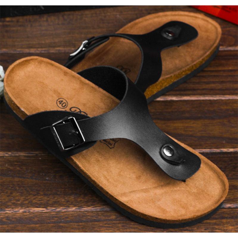 CoolFar casual cork slippers for men 2016 comfortable leisuire cork flats sandals sandalias de corcho de los hombres<br><br>Aliexpress