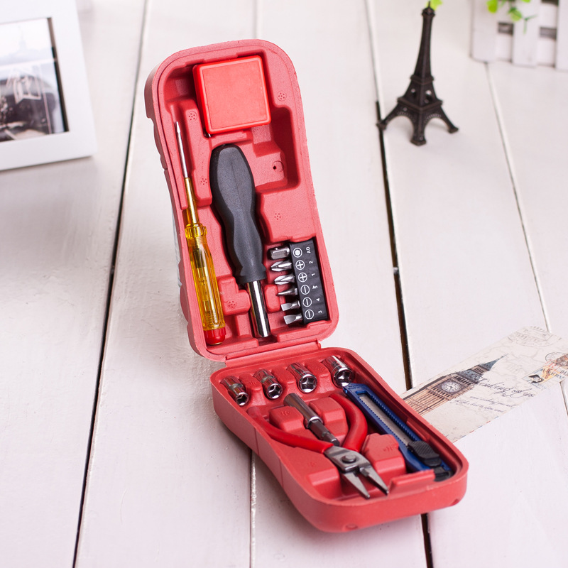 2015 New Arrive 15PCS/ Set Top Quality Household Tool Set Tape Pliers Knife Slotted Phillips Screwdriver Electrician Hand Tools(China (Mainland))