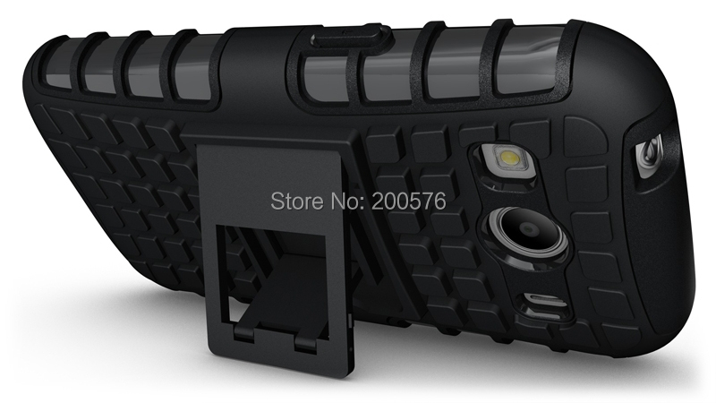 TPU&PC Heavy Duty armor stand case For Samsung Galaxy Ace 4 G357Fz G357 (128.9mm*65.8mm*9.1mm) Free Shipping 10# pcs