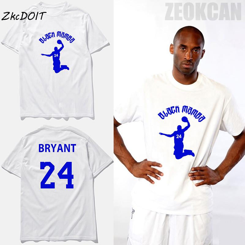 Kobe Bryant jersey #24 basketbal fashion t-shirt black mamba white traning plain round neck short sleeves t shirts,tx2360(China (Mainland))